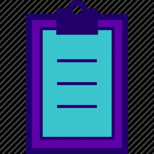 clipboard, content, list, paste, survey, task icon