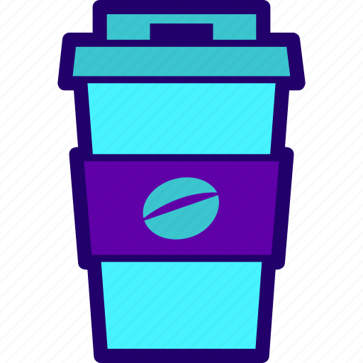 coffee, cup, drink, food, paper icon