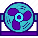 air, cooling, desktop, fan icon