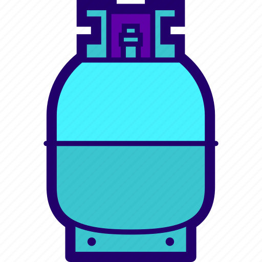 bottle, can, cng, cylinder, fire, gas icon