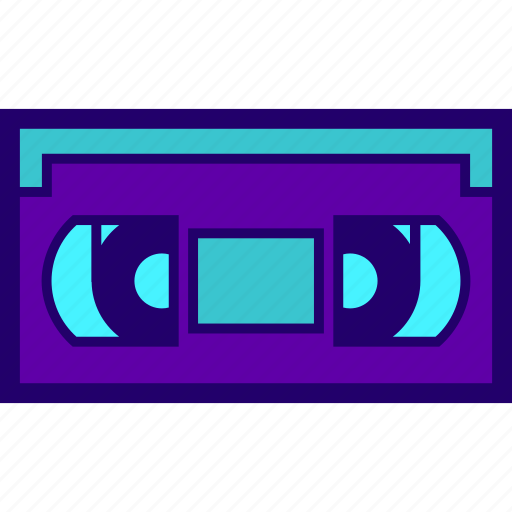cassette, record, tape, vhs, video icon