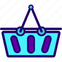 basket, ecommerce, grocery, supermarket icon
