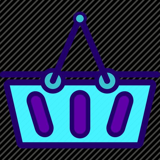 basket, ecommerce, grocery, supermarket icon