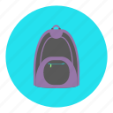 backpack, bag, carry, education, school, student, travel icon