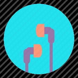 earphones, headphone, headset, listen, multimedia, music, sound icon