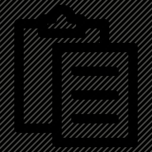 clipboard, copy, document, file, paste icon