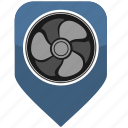 air, bookmark, climate, cooler, pointer, ventilation icon