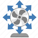 air, climate, cool, cooler, ventilation icon