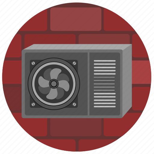 cooler, mount, ventilation, wall icon