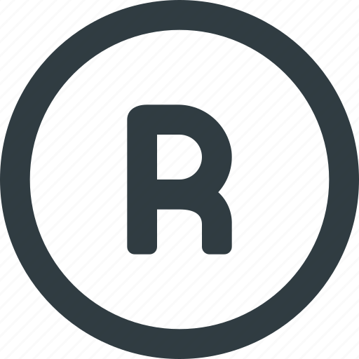 copy, copyright, mark, registred, restriction, right icon