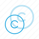 copy, copyright, restriction, right icon