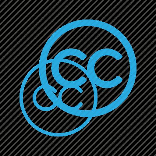 common, copy, copyright, creative, restriction, right icon
