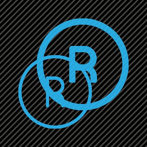 copy, copyright, mark, registred, restriction, right icon