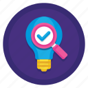 analysis, idea, idea analysis, idea analytics icon