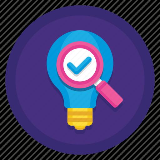 analysis, idea, idea analysis, idea analytics icon