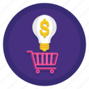 buying, buying idea, idea, purchasing idea icon