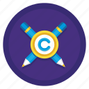 conflict, copyright, copyright conflict icon