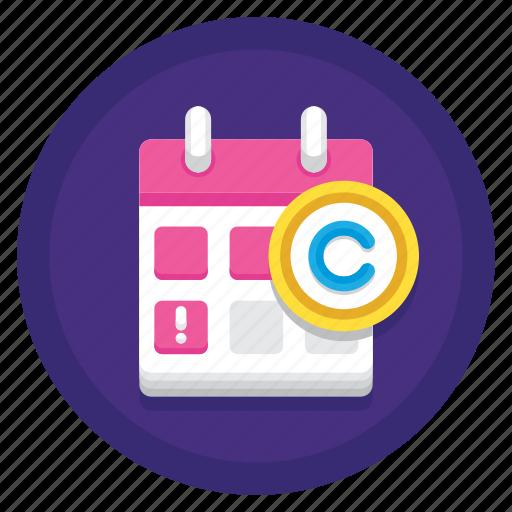 Copyright, copyright expiry, expiry, expiry date icon - Download on Iconfinder