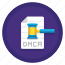 dmca, dmca file notice, file, notice icon