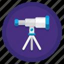 discovery, stargaze, stargazing, telescope icon