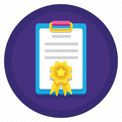 achievement, award, clipboard, initial filing icon