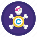 copyright, copyrighted, intellectual, intellectual piracy, piracy icon