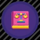 book, law, law book, legal icon