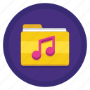 music, music files, music folder, music work, work icon