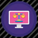court, online, online court, online courtroom icon