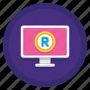online, online registration, online trademark, trademark icon
