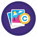 copyright, photography, photography copyright icon