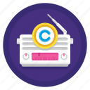 broadcast, copyright, radio, radio broadcast copyright icon