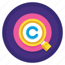 copyright, copyrighted, records, search, search records icon