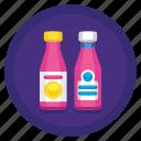 bottles, dress, packaging, trade, trade dress icon