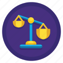 competition, imbalance, unfair, unfair competition icon