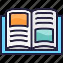 book, learning, read, school, university icon