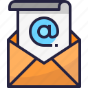 address, communication, email, letter, mail, message icon