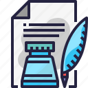 content, document, ink, paper, writing icon