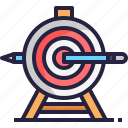 business, marketing, pencil, planning, target, targeting icon