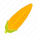 corn, ear, food, nature, plant, swing, vegetable icon