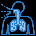 breath, corona, covid19, lung, virus icon