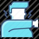 coronavirus, covid-19, elbow, medical, sick icon