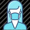 avatar, face, mask, profile, woman