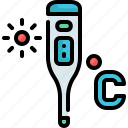 celsius, degrees, digital, fever, healthcare, temperature, thermometer