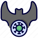 bacteria, bat, coronavirus, covid, pandemic, transmission, virus icon