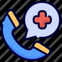 emergency, medical, phone, telephone, virus icon