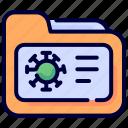 coronavirus, file, files, folder, outbreak, pandemic icon
