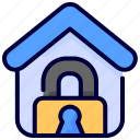 coronavirus, covid, home, house, lockdown, virus icon