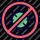 control, coronavirus, disease, pandemic, stop, virus icon