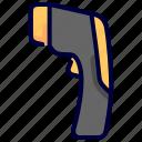 coronavirus, covid, gun, temperature, thermometer, virus icon
